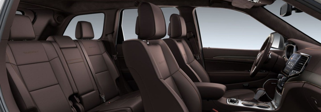 2019 Jeep Grand Cherokee red interior front and second row