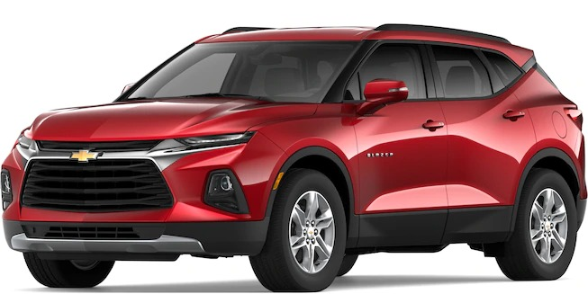 How Many Exterior Colors are Available for the 2019 Chevy Blazer?