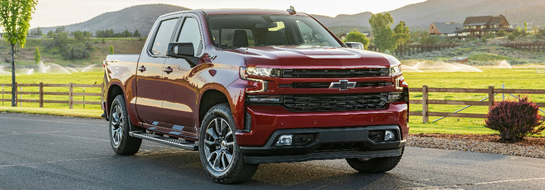 2020 Chevy Silverado 1500 diesel engine on rural road