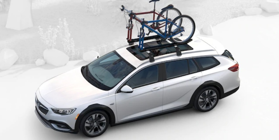 2019 Buick Regal TourX with bicycles on roof