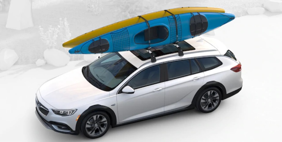 2019 Buick Regal TourX with kayaks on roof