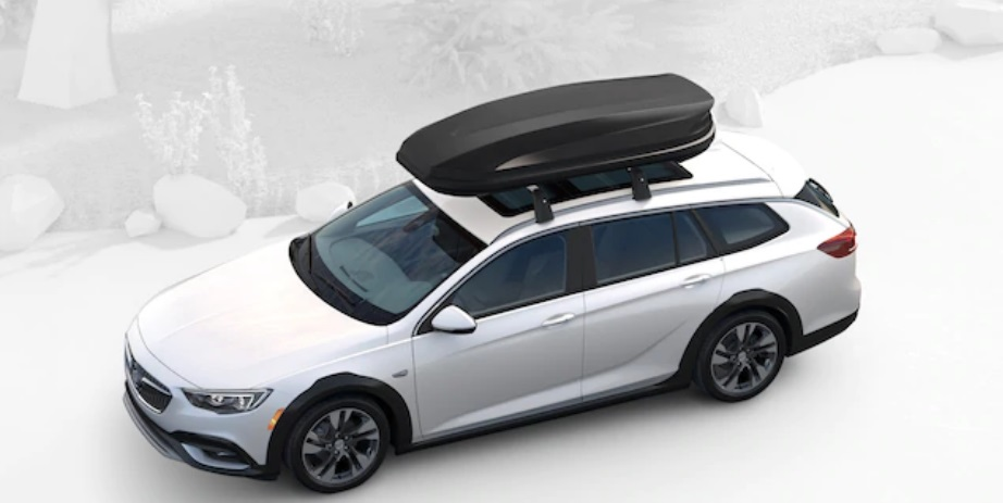 2019 Buick Regal TourX with travel carrier