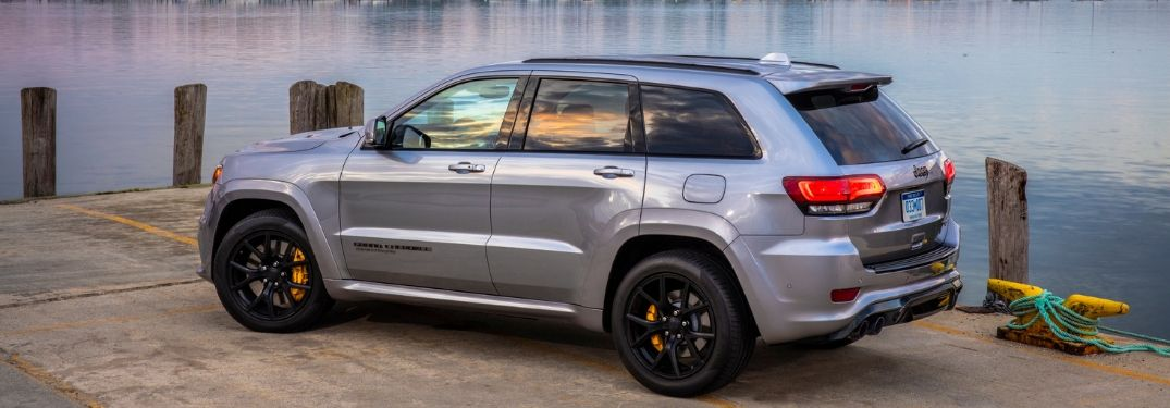 2020 Jeep Grand Cherokee parked near water