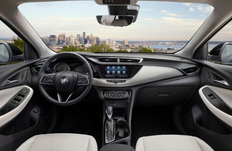 2020 Buick Encore GX interior steering wheel and dashboard