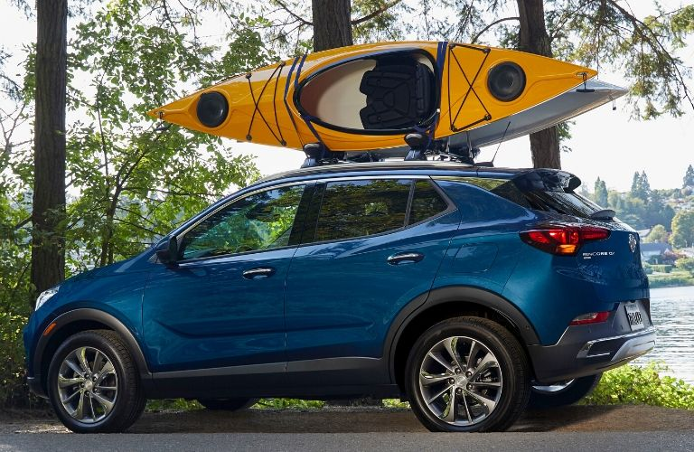 2020 Buick Encore GX with kayak on its roof