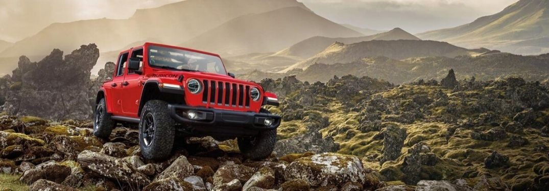 2020 Jeep Wrangler Rubicon climbing mountains