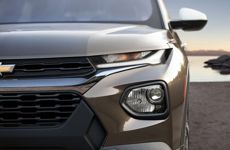 2021 Chevy Trailblazer grille and headlight closeup