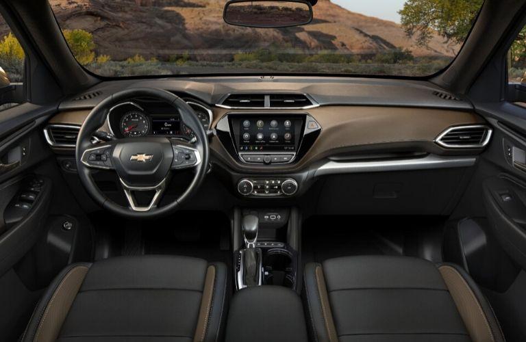 2021 Chevy Trailblazer steering wheel and dashboard
