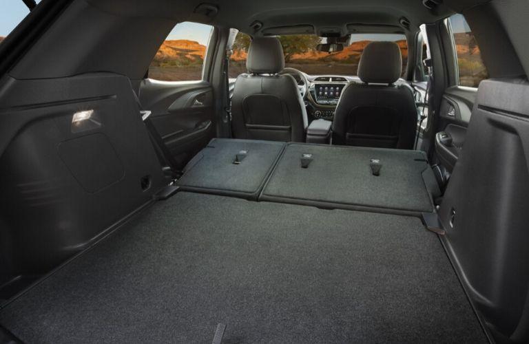 2021 Chevy Trailblazer rear cargo area with rear seats folded