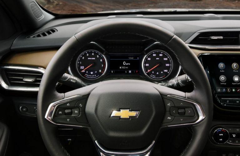 2021 Chevy Trailblazer steering wheel and instrument gauge cluster