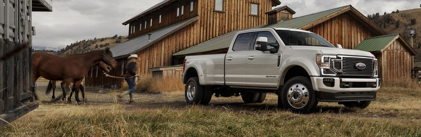 2020 Ford Super Duty truck on a farm
