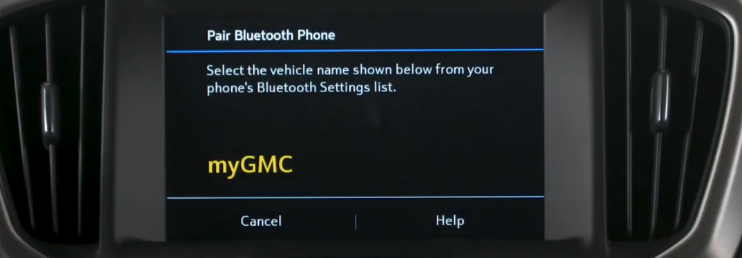 How can I pair a phone with the GMC Intellilink System?