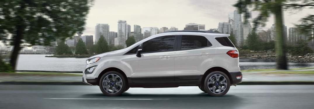 What engine options does the 2020 Ford EcoSport offer?