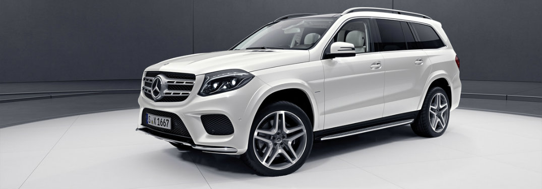2018 Mercedes-Benz GLS 550 Grand Edition in white on a dark gray background