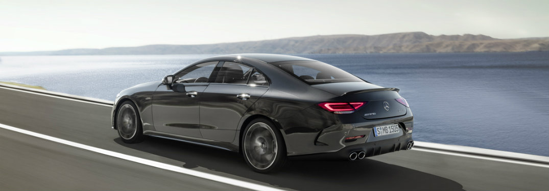 2019 Mercedes-AMG® CLS 53 driving away from us