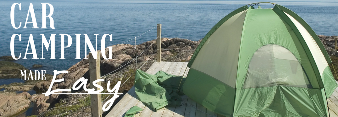 Car Camping made easy next to a tent on the sea