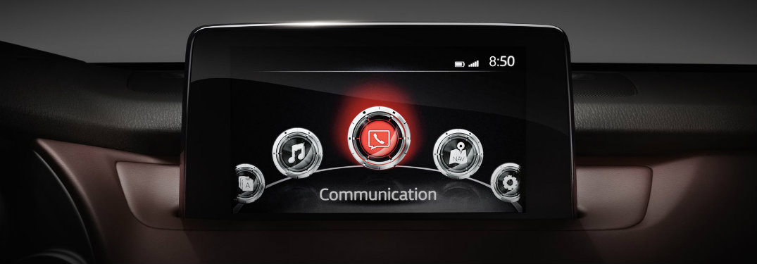 mazda connent system touch screen display