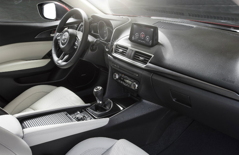 mazda3 interior, white seats