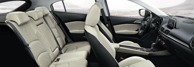 mazda3 interior white seats