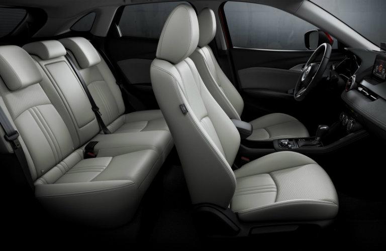 interior white seats of mazda cx-3