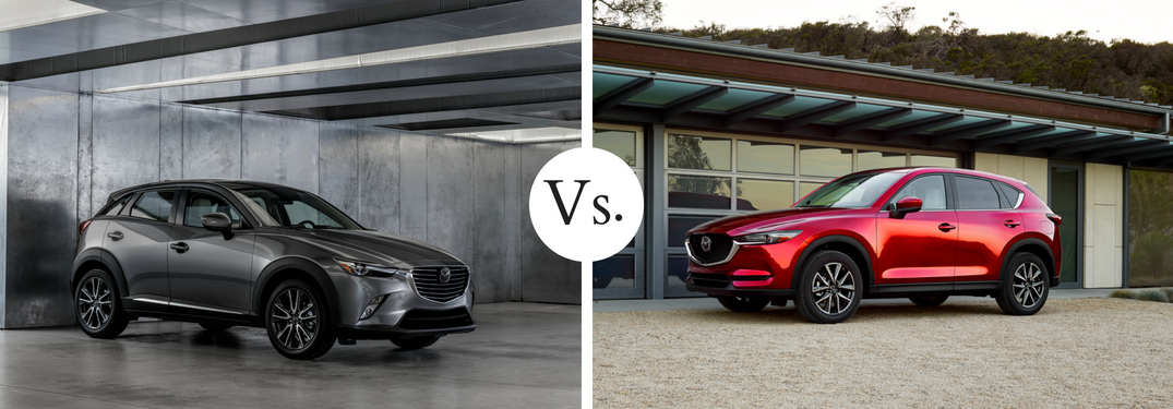 gray mazda cx3 vs red mazda cx5