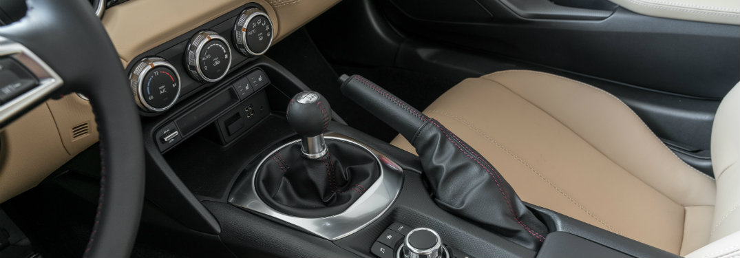 stick shift inside mazda miata