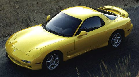 yellow Mazda RX-7