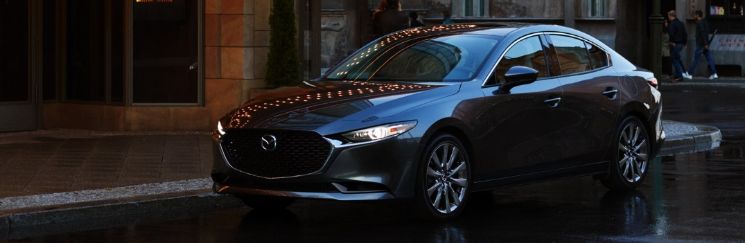 What are all the active safety features available with the 2019 Mazda3?