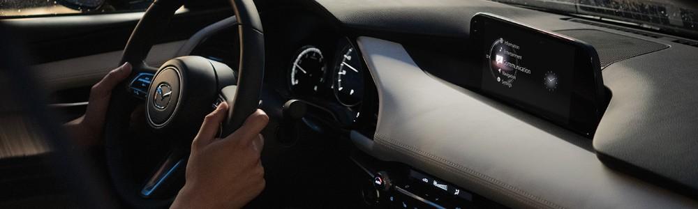 someone driving the 2020 Mazda3 P