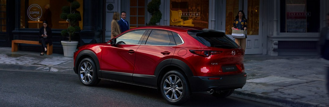 red 2020 MAZDA CX-30 parked in city