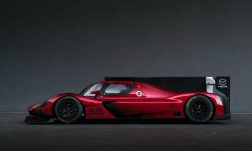 Mazda RT24-P side profile showroom shot