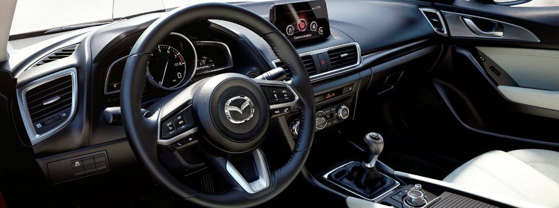 2018 Mazda3 driver's cockpit