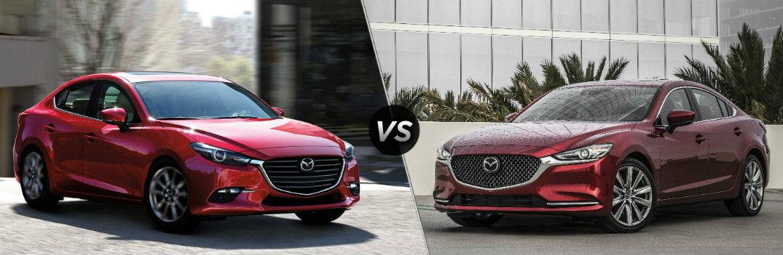 2018 Mazda3 vs 2018 Mazda6