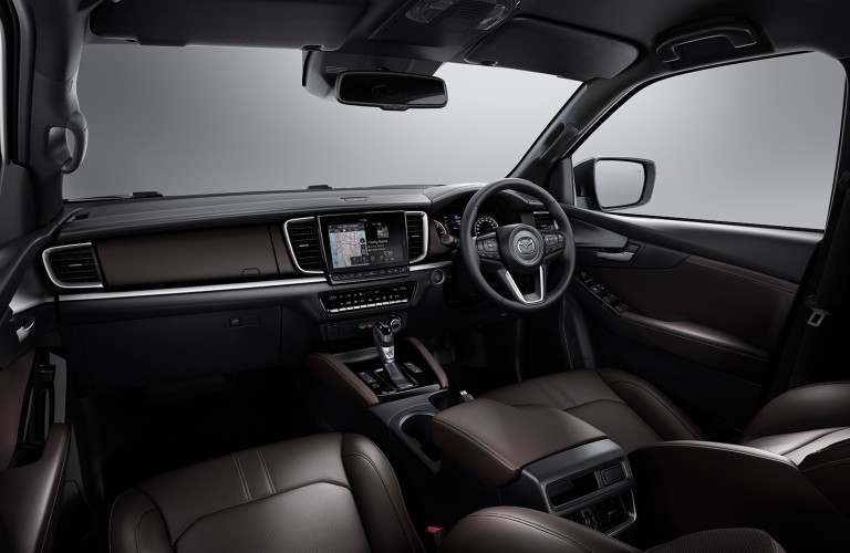 The front interior inside the 2020 Mazda BT-50.