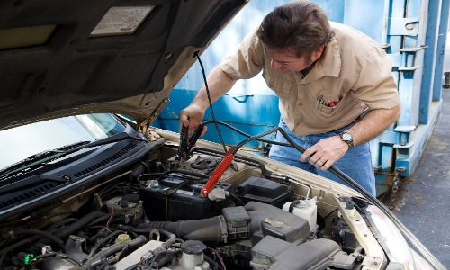 Hooking up a battery to jumper cables