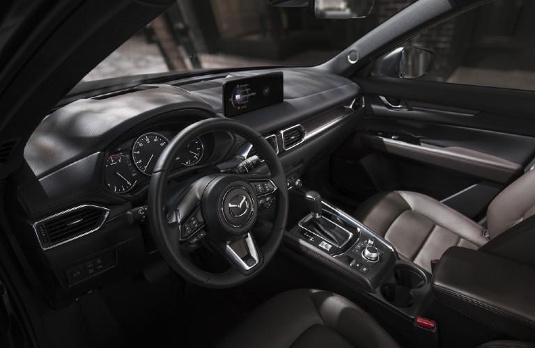 The front interior inside the 2021 Mazda CX-5.