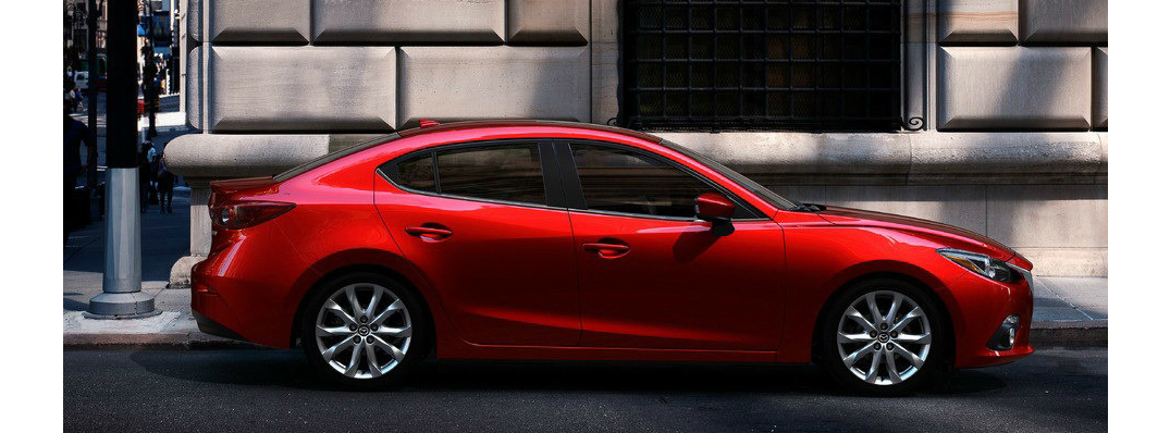mazda mazda3 red city performance luxury sedan sport efficiency