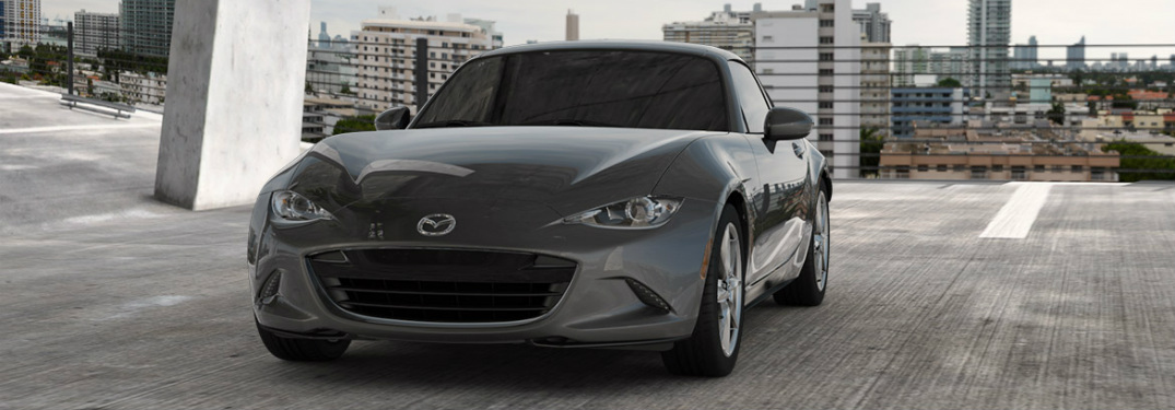 2017 Mazda MX-5 Miata RF side view silver