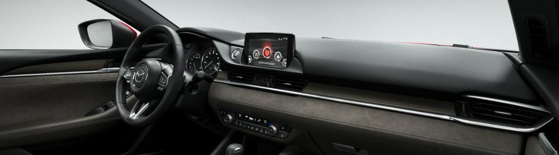 2018 Mazda6 interior dash and steering wheel