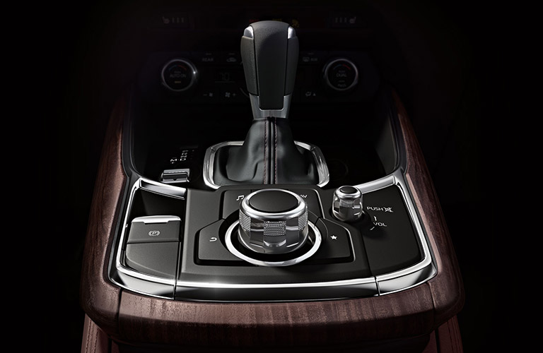 Closeup shot of Mazda CX-9 gear shifter