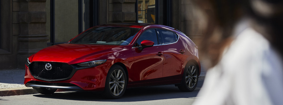 2019 Mazda3 hatchback on the street