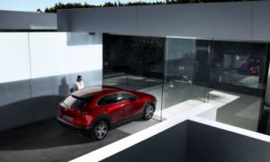 2019 Mazda CX-30 in front of a modern building