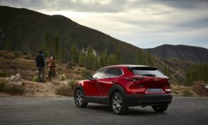 2020 Mazda CX-30 in front of the mountains