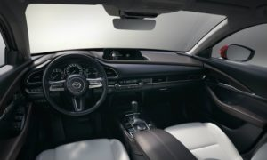 Cabin of the 2019 Mazda CX-30