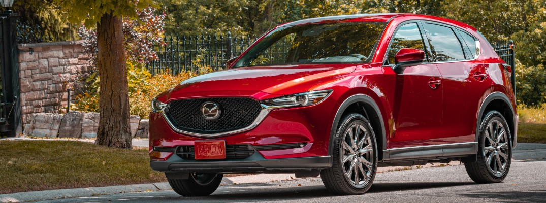 2019 Mazda CX-5 Signature parked on a fall day