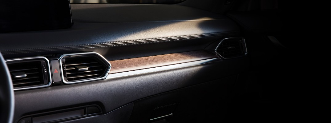 Wood trim inside the 2019 Mazda CX-5 Signature