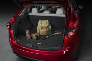 Cargo mat in the 2019 Mazda CX-5's trunk