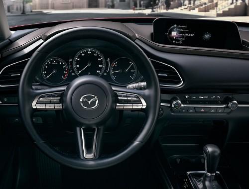 Steering wheel of the 2020 Mazda CX-30