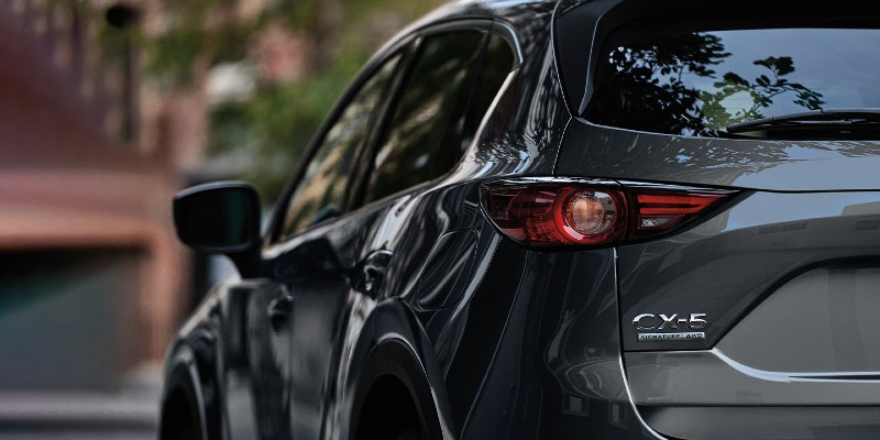 View of the 2020 Mazda CX-5 from the rear
