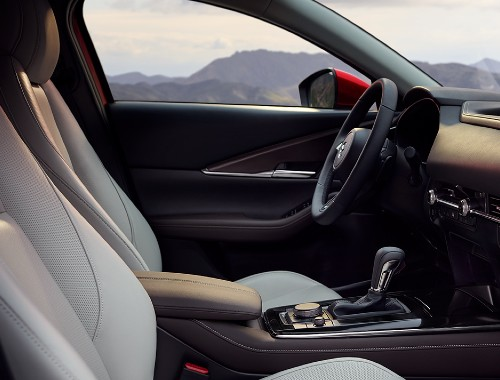 Front seats of the 2020 Mazda CX-30